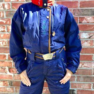 VTG 80's Obermeyer Blue & Red Alpine Ski Suit *H15